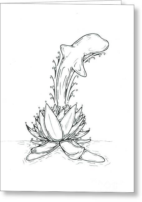Dolphin Greeting Card by Matt Sutherland