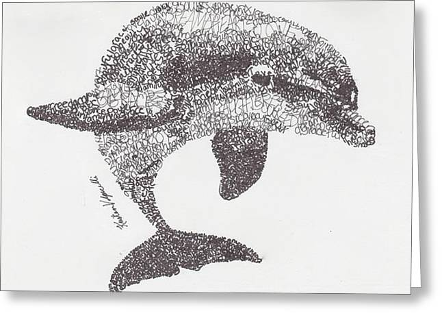 Dolphin Greeting Card by Michael Volpicelli