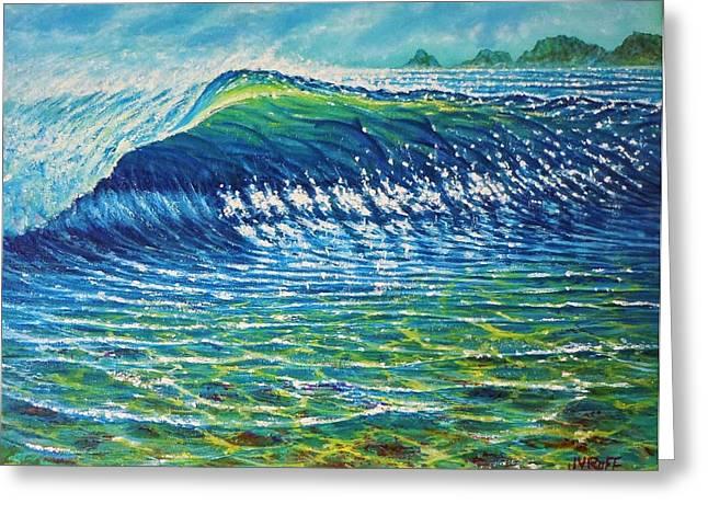 Dolphin Surf Greeting Card by Joseph   Ruff
