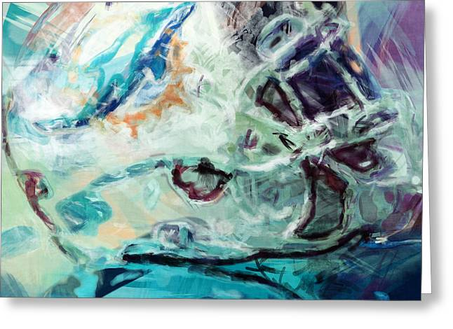 Dolphins Art Greeting Card by David G Paul