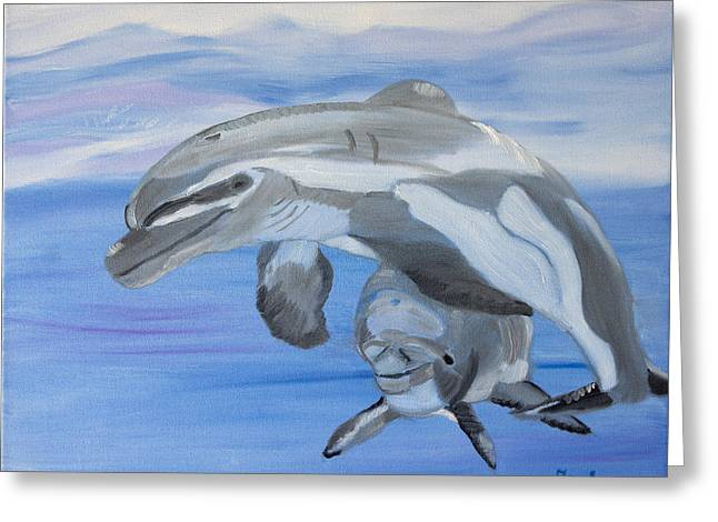 Sublime Dolphins Greeting Card