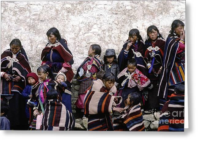 Dolpo Blankets - Do Tarap Valley - Nepal Greeting Card by Craig Lovell