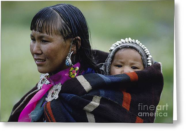 Dolpo Woman And Child - Do Tarap Valley - Nepal Greeting Card by Craig Lovell