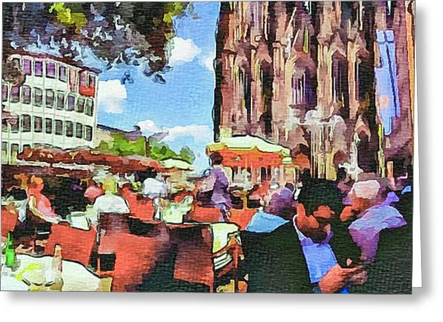 Dome Cafe In Cologne Greeting Card