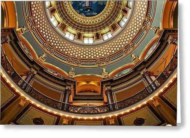 Dome Designs - Iowa Capitol Greeting Card