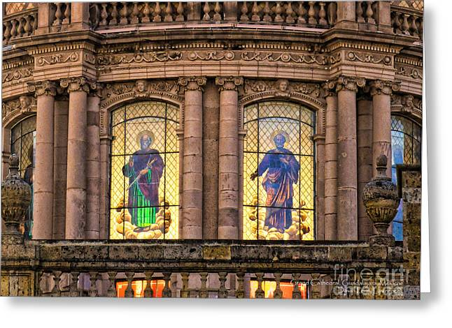 Dome Grand Cathedral Of Guadalajara Greeting Card by David Perry Lawrence