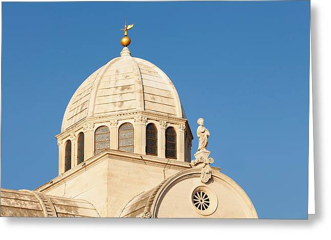 Dome Of A Cathedral, Sibenik Cathedral Greeting Card
