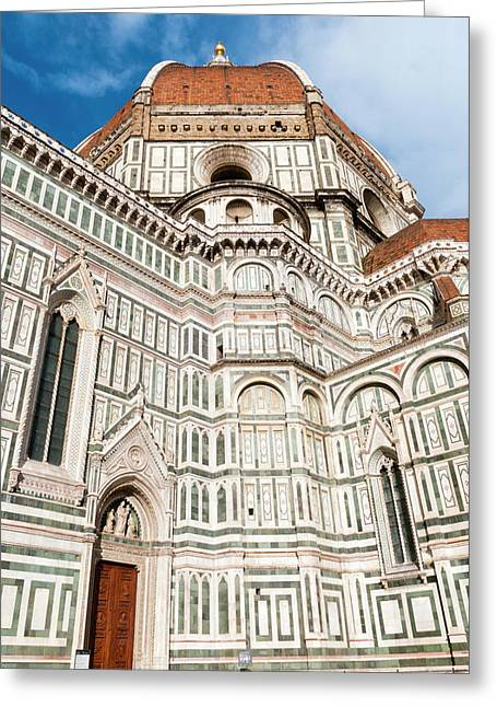 Dome Of Brunelleschi, Cathedral, Unesco Greeting Card by Nico Tondini