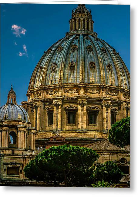 Greeting Card featuring the photograph Dome Of Michelangelo by Rob Tullis