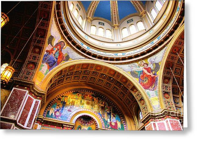 Greeting Card featuring the photograph Dome Of St. Matthews Washington Dc by John S
