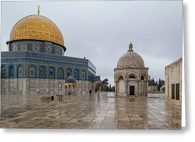 Dome Of The Rock, Temple Mount Haram Greeting Card