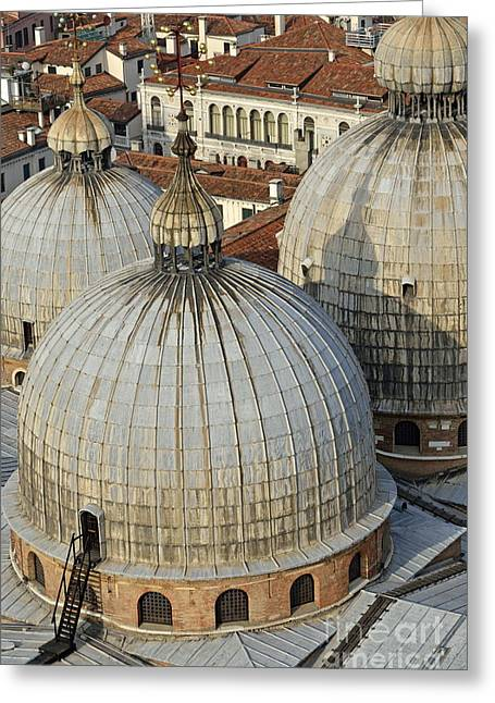 Domes Of The San Marco Basilica Greeting Card by Sami Sarkis
