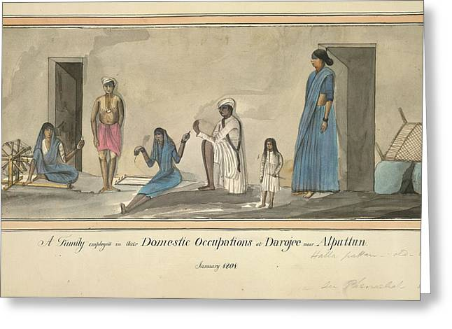 Domestic Occupations Greeting Card by British Library