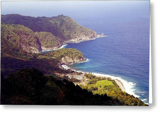 Dominica Coast Line Greeting Card