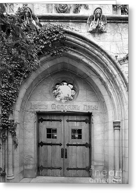 Dominican University Lewis Memorial Hall Greeting Card by University Icons