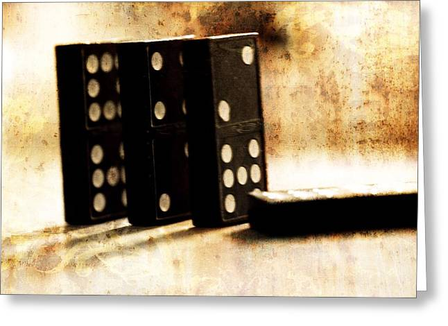 Dominoes And Games Greeting Card by Dan Sproul
