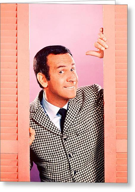 Don Adams In Get Smart  Greeting Card by Silver Screen