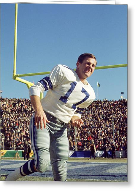 Don Meredith Warms Up Greeting Card