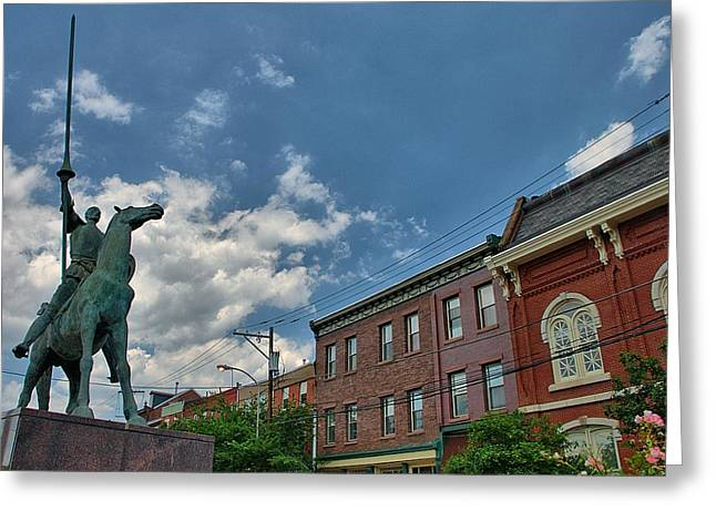 Don Quixote In Philadelphia Greeting Card by Steven Richman