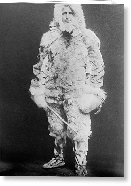 Donald Macmillan, Us Arctic Explorer Greeting Card by Science Photo Library