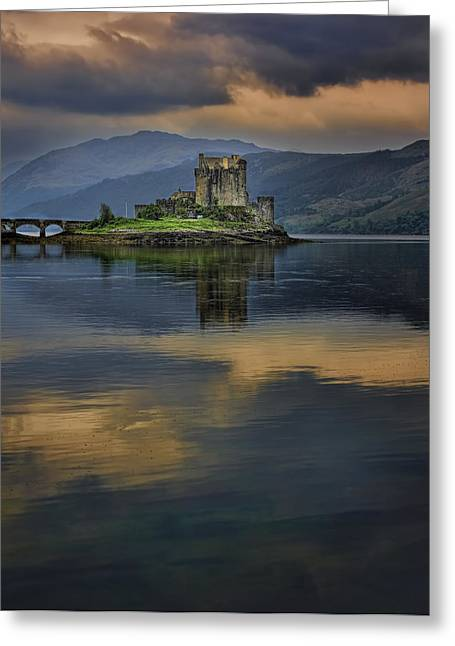 Donan Castle Reflection Greeting Card