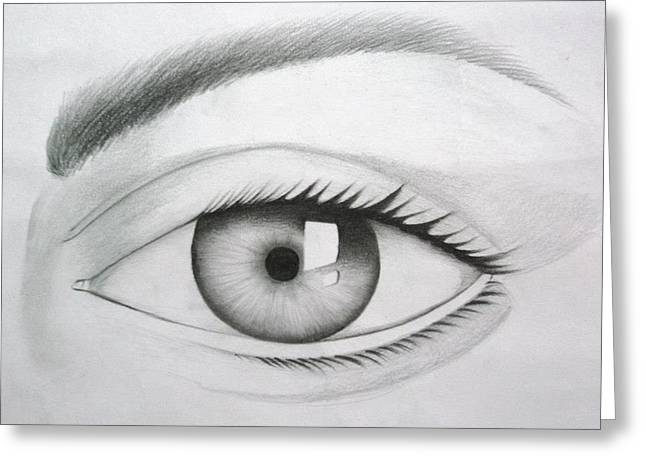 Donate Your Eyes Greeting Card by Tanmay Singh