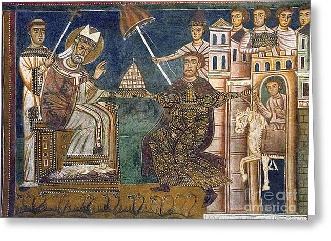 Donation By Constantine To Sylvester Greeting Card