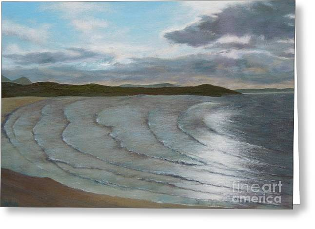 Donegal's Shimmering Sea Greeting Card