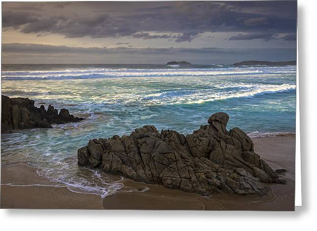 Greeting Card featuring the photograph Doninos Beach Ferrol Galicia Spain by Pablo Avanzini