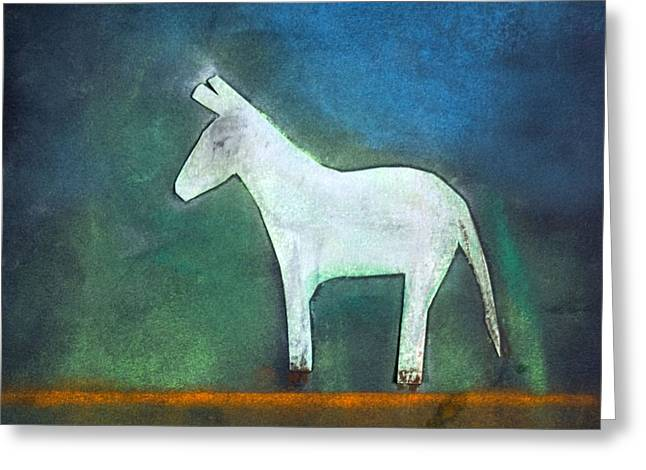 Donkey, 2011 Oil On Canvas Greeting Card by Roya Salari