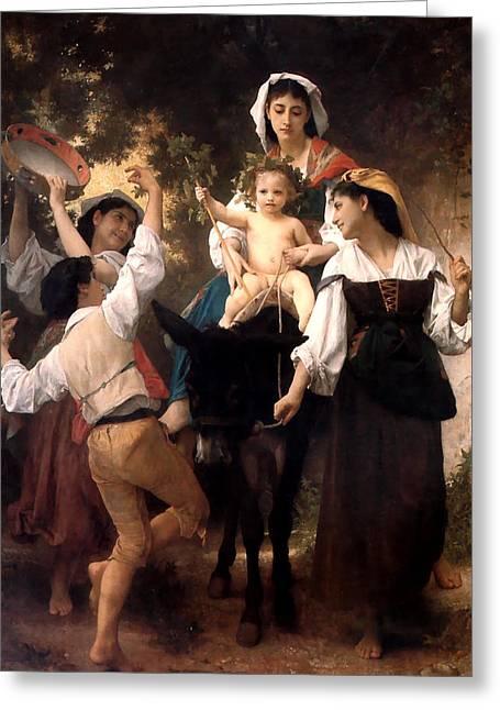 Donkey Ride Greeting Card by William Bouguereau