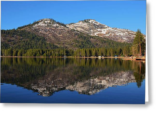 Donner Lake Reflection Greeting Card