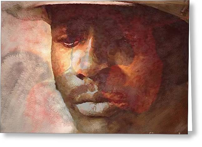 Donny Hathaway Greeting Card by Vannetta Ferguson