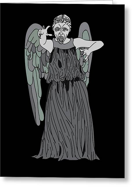 Dont Blink Greeting Card by Jera Sky