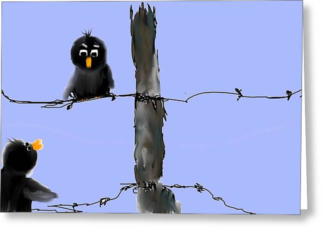 Don't Cross My Fence Greeting Card by Jessica Wright