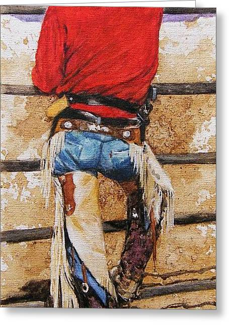 Don't Fence Me In Greeting Card by Debra Jones