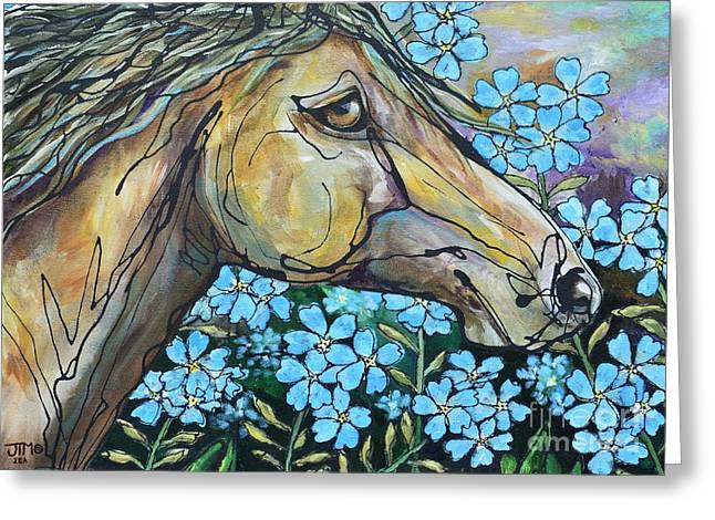 Don't Forget Me Greeting Card by Jonelle T McCoy