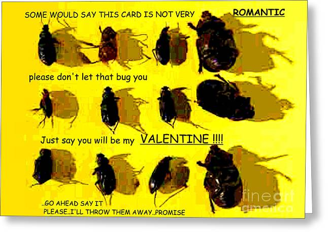 Dont Let It Bug You Valentine Greeting Card