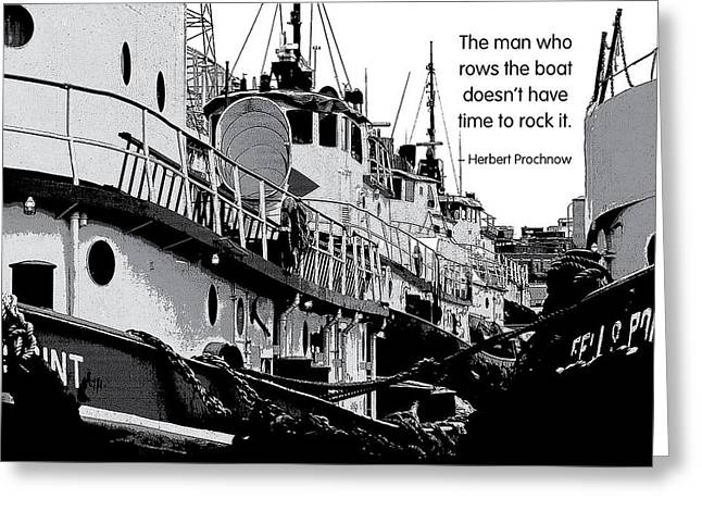 Don't Rock The Boat Greeting Card