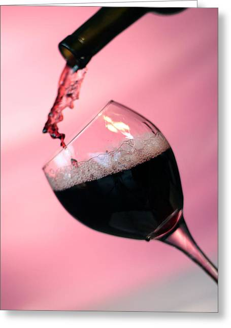 Dont Whine Over Spilled Wine Greeting Card by Michael Ledray