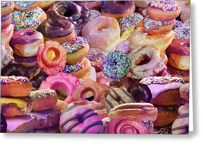 Donut Stacks Greeting Card by Alixandra Mullins