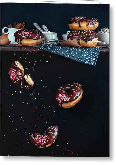 Donuts From The Top Shelf Greeting Card