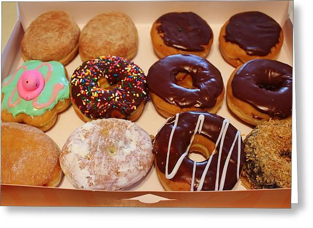 Donuts Greeting Card by Paulette Thomas