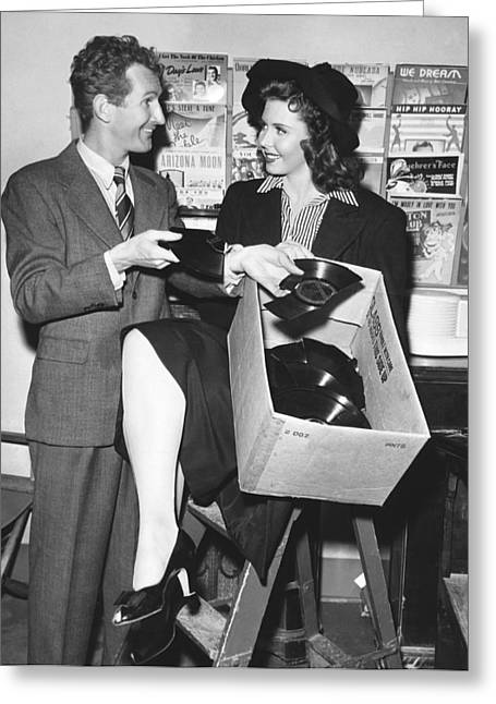 Doodles Weaver And Ann Miller Greeting Card