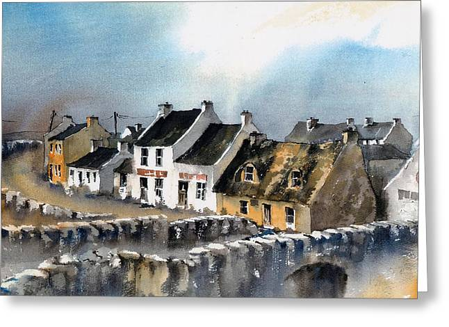 Clare Doolin Village  Greeting Card