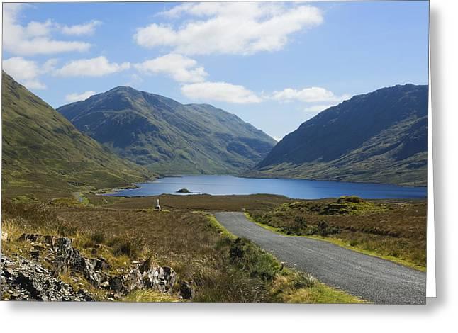 Doolough Pass County Mayo Ireland Greeting Card by Jane McIlroy