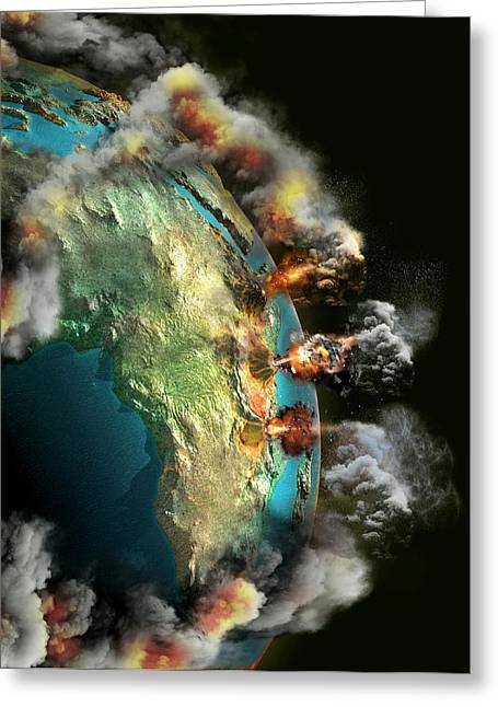 Doomsday Volcanoes Greeting Card
