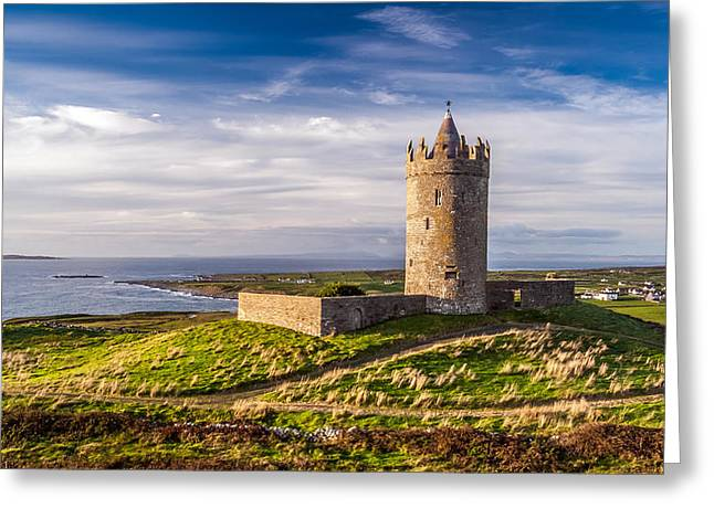 Doonagore Castle At Sunset Greeting Card