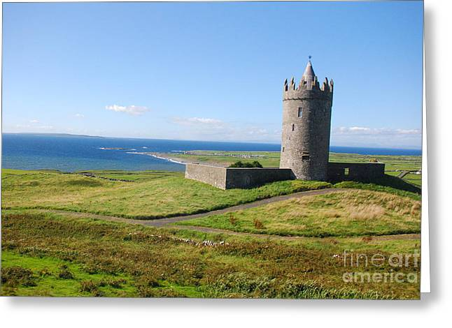 Doonagore Castle - Doolin Greeting Card by Joe Cashin