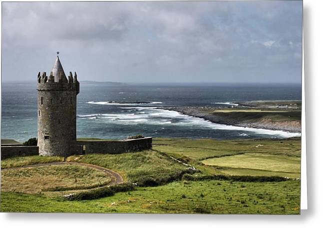 Doonagore Castle Panorama Greeting Card by Mark Callanan